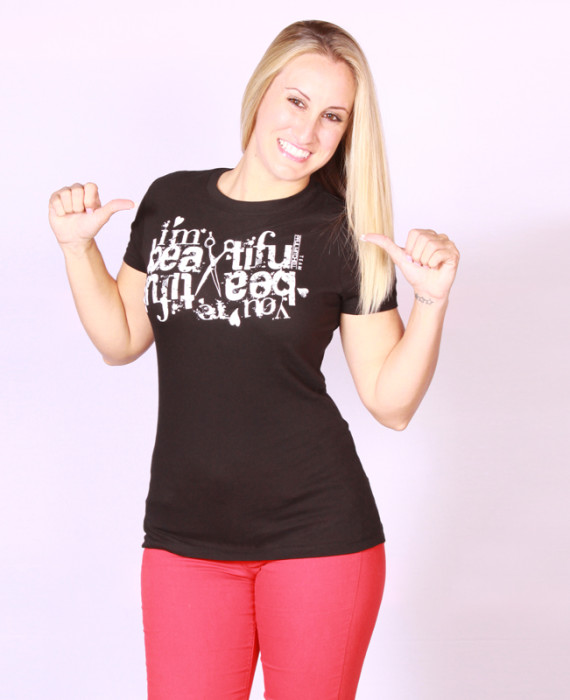 """I'm Beautiful"" PM ladies tee"