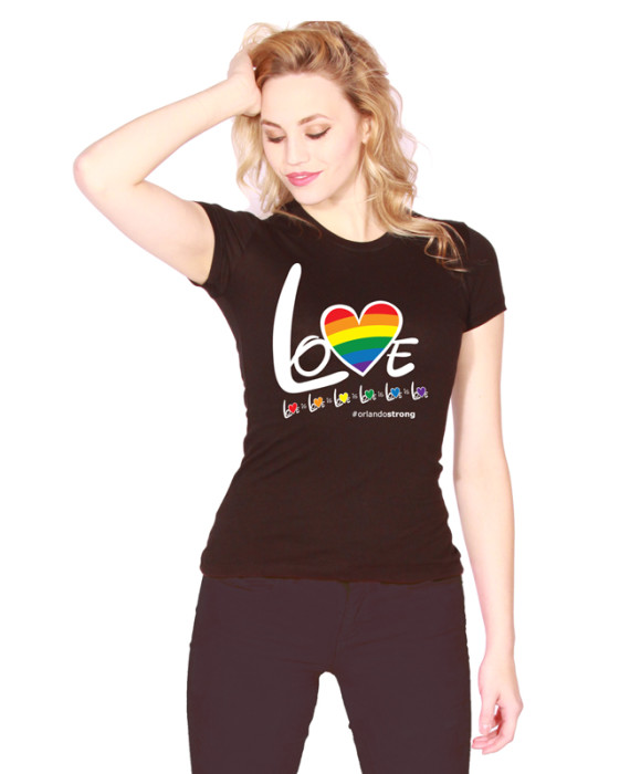 """LOVE is LOVE"" #orlandoSTRONG tee (NO back)"